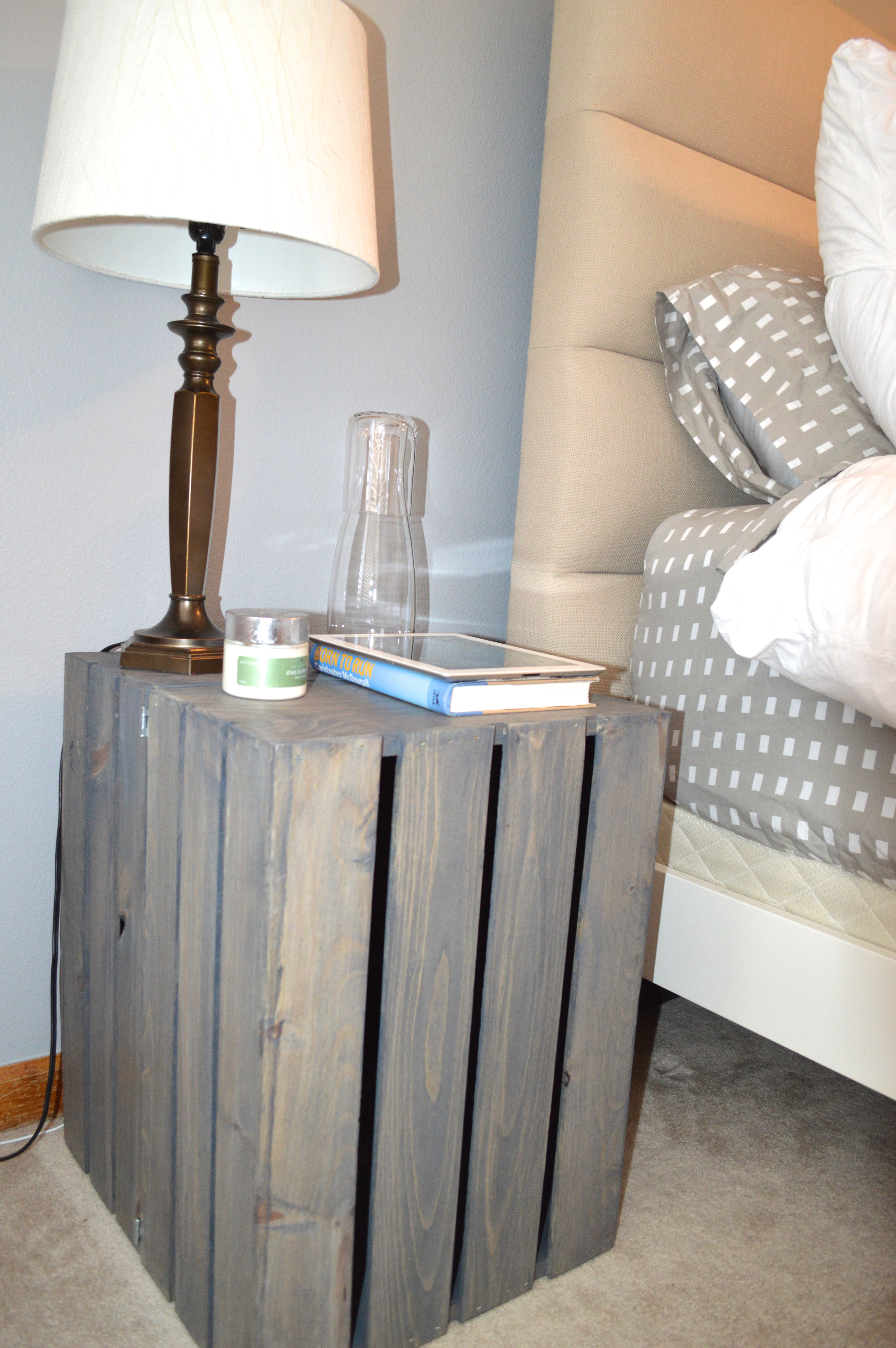 Diy Small Bedside Tables: DIY Crate Bedside Tables