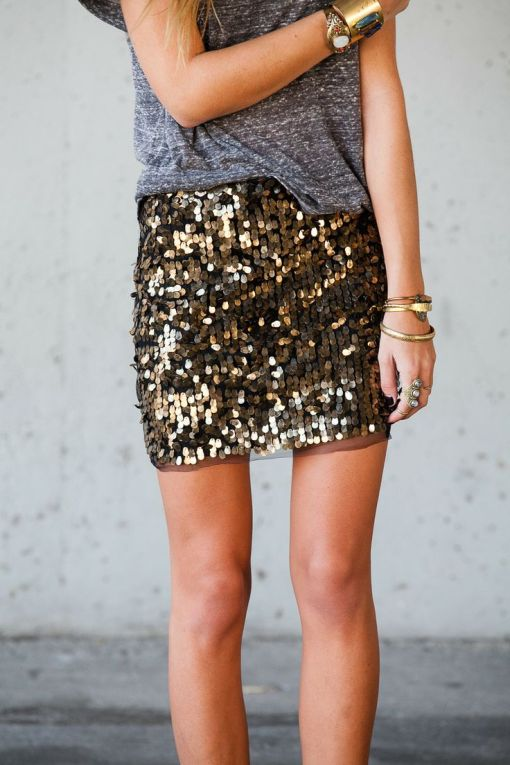 sequin and tshirt