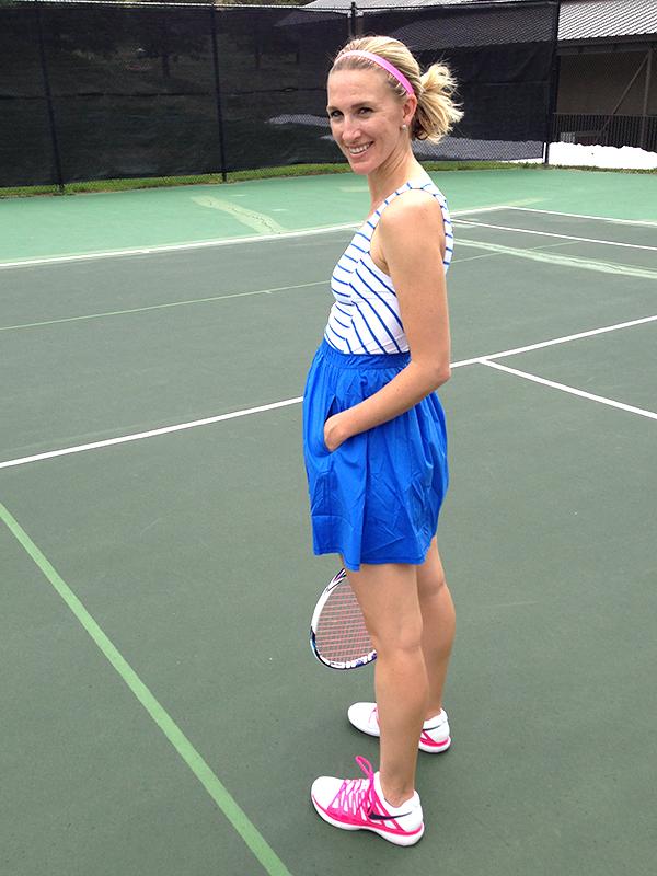tennis time  gold confetti